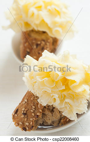 Stock Image of French cheese tapas.