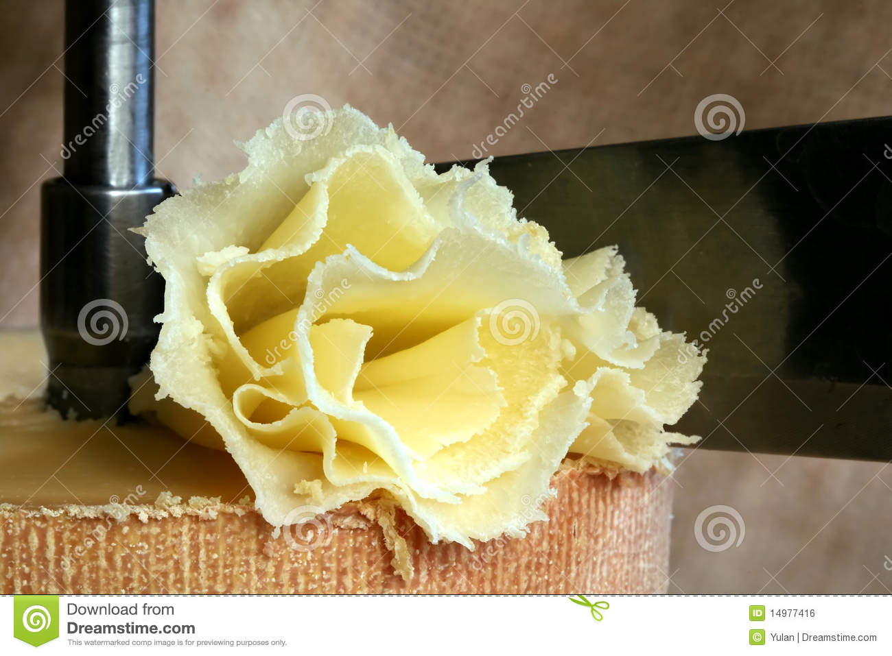 Scraping Device Of Swiss Cheese Tete De Moine Stock Photography.