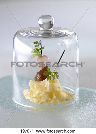Stock Photography of Candied chestnut,radish and thinly sliced.