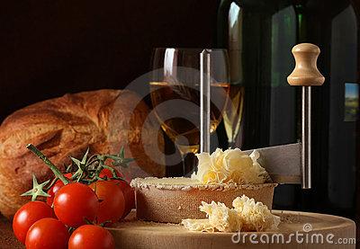 Rosette Of Tete De Moine Cheese Royalty Free Stock Photos.