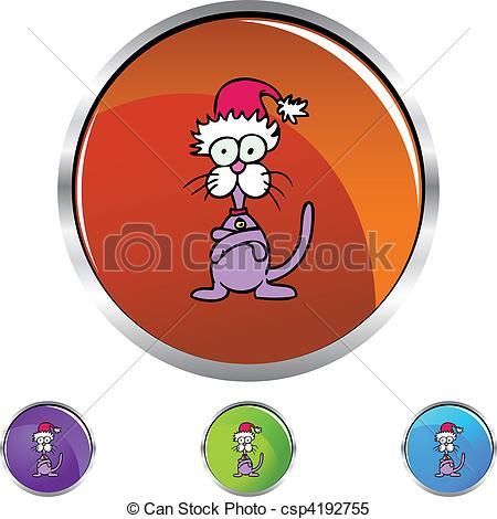 Vecteur Clipart de têtu, chat csp4192755.