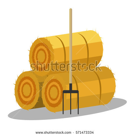 Haystack Isolated Stock Photos, Royalty.