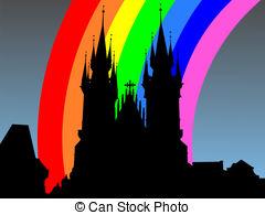 Clip Art of Tyn Church Prague.