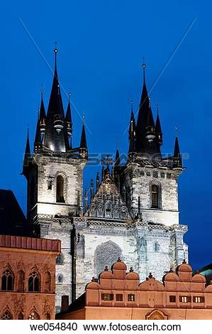 Stock Photography of Czech Republic, Prague. The Old Town Square.