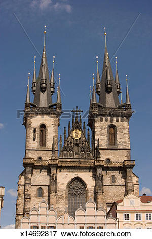 Picture of Low angle view of church, Tyn Church, Prague, Czech.