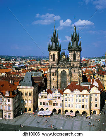 Stock Images of Tyn Church (Gothic Architecture), in Old Town.