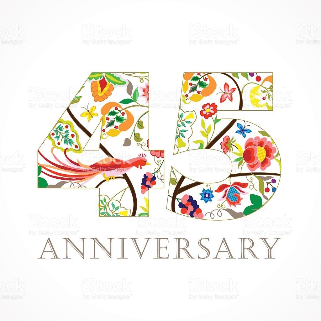 Anniversary 45 Ethnic Numbers stock vector art 491120832.