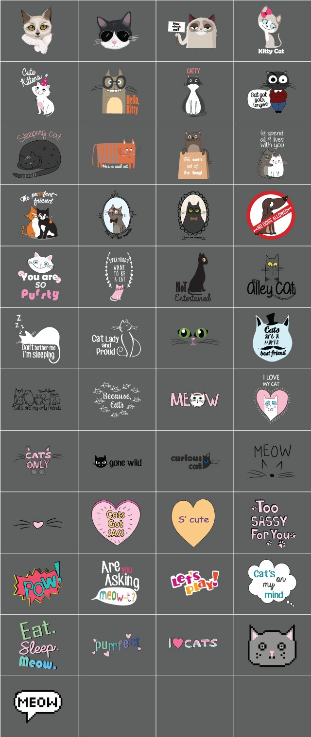 Feeling Catty Clipart Offers 45 Images of Feline Fun.