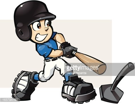 T Ball Batter premium clipart.