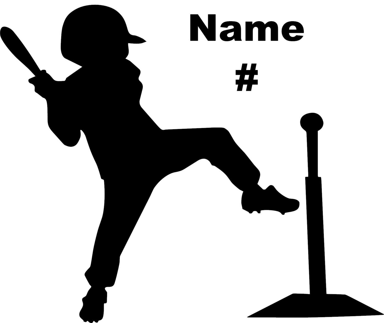 Personalized Baseball Decal Little League T.