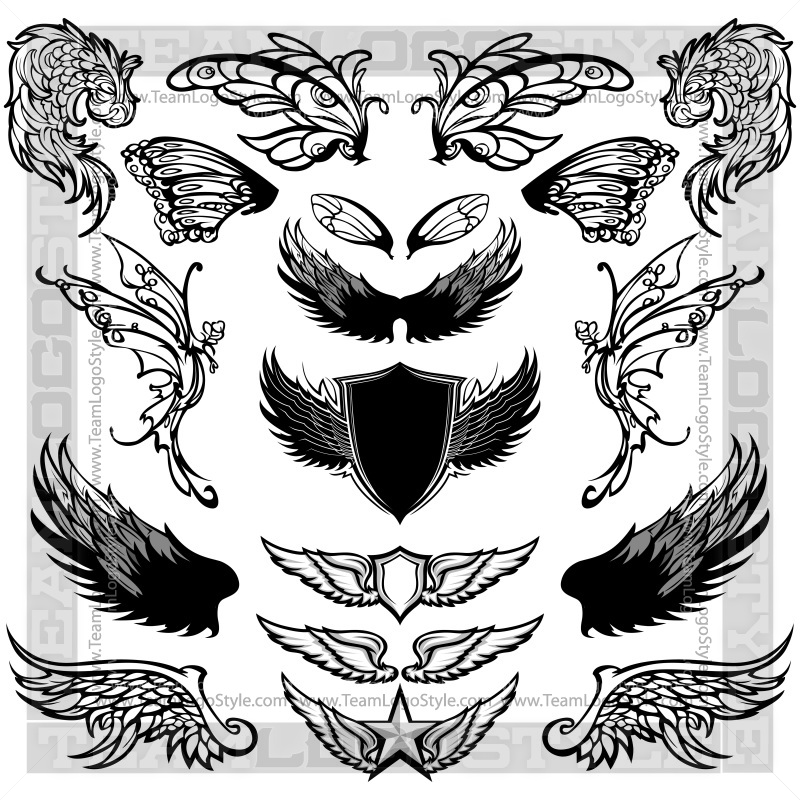Clip Art Bird Wings.