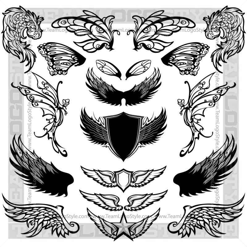 Clip Art Bird Wings.