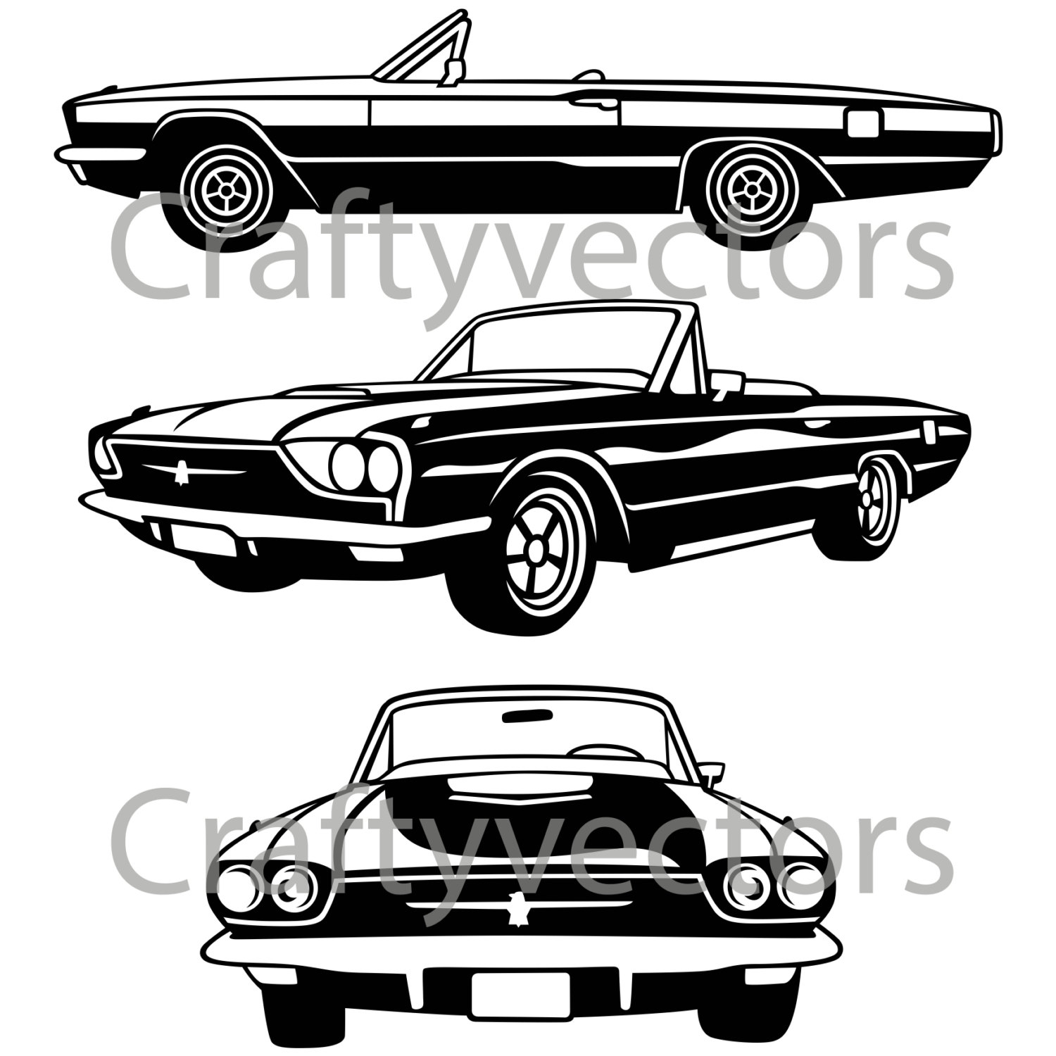 Ford thunderbird clipart.