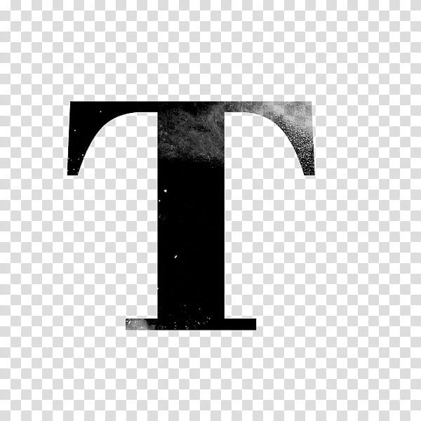Black letter T transparent background PNG clipart.