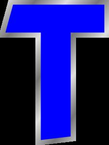 Blue T Clip Art at Clker.com.