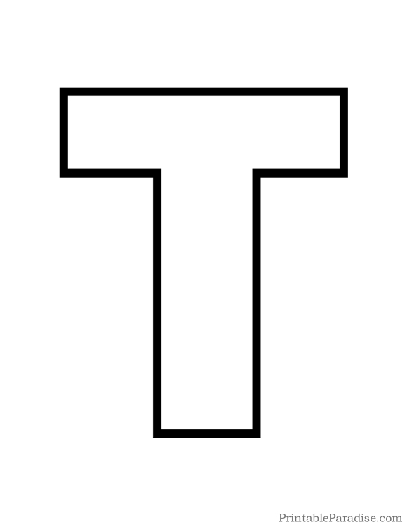 Letter T Clipart Black And White.