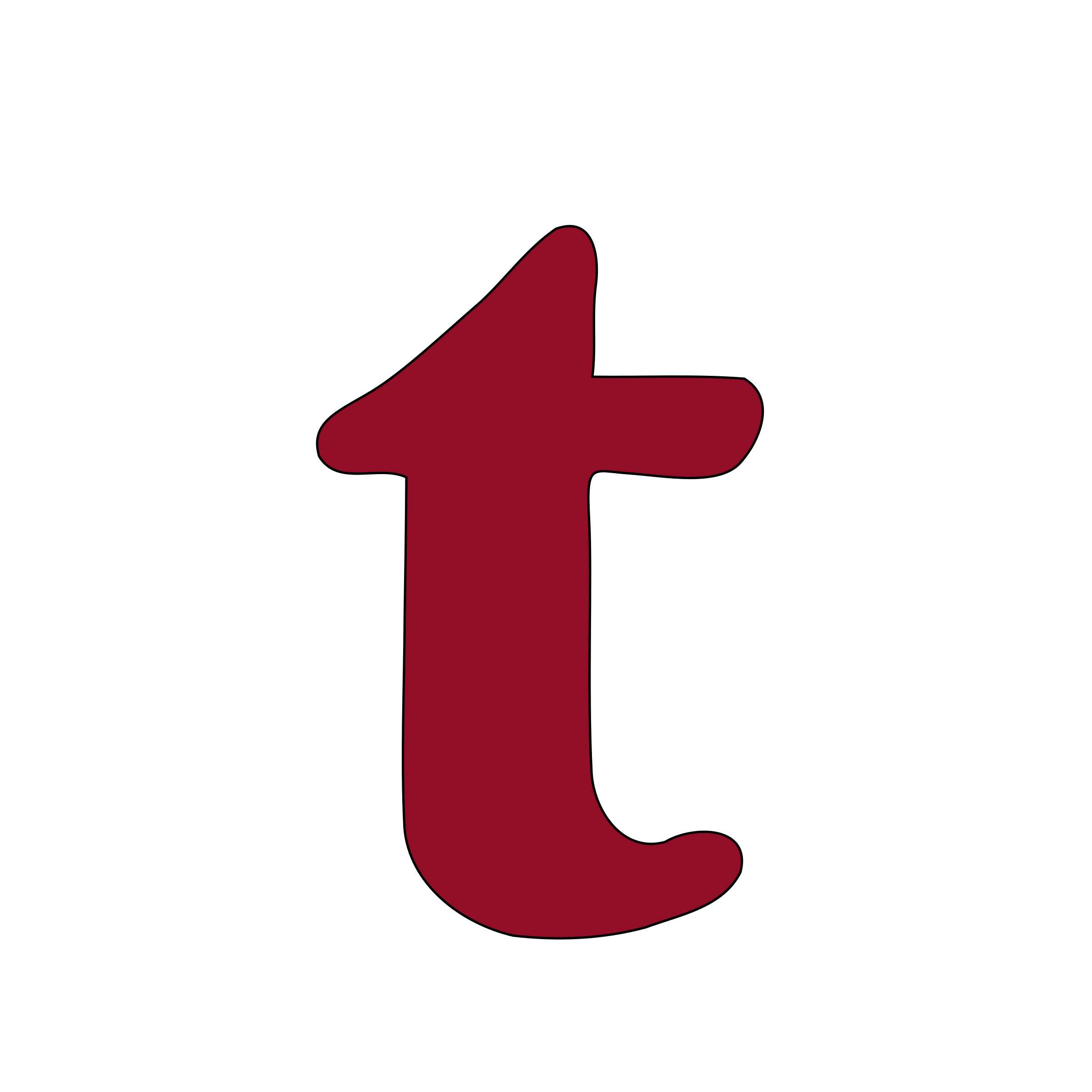 Lowercase T Clipart.