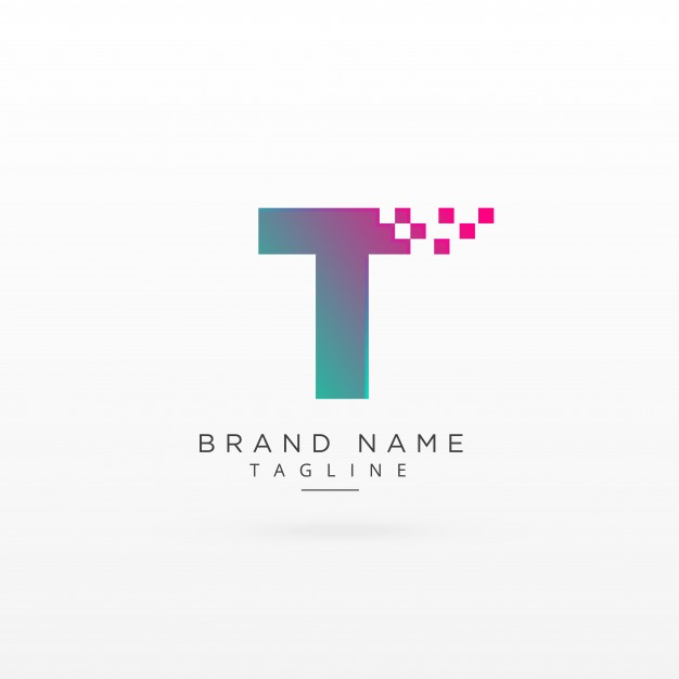 Abstract letter t logo design Vector.