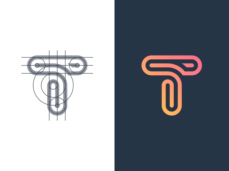Single Letter Logo Design Inspiration from A.