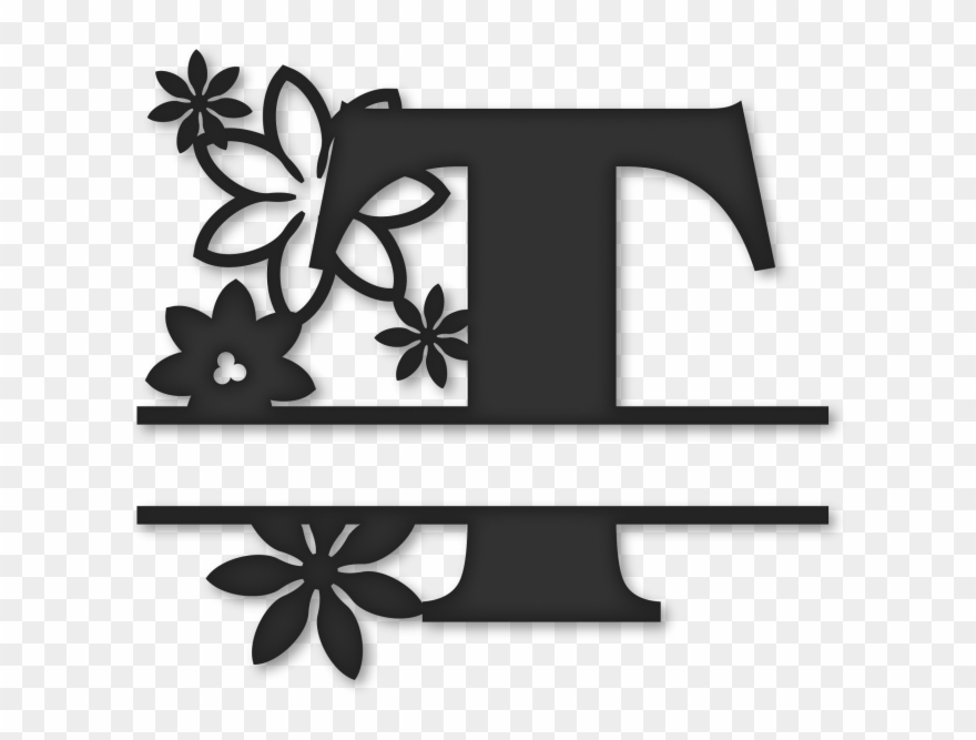 Flower Split Monogram T.