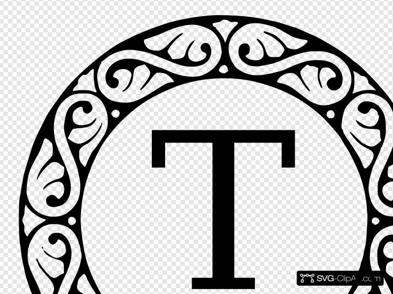 Letter T Monogram Clip art, Icon and SVG.