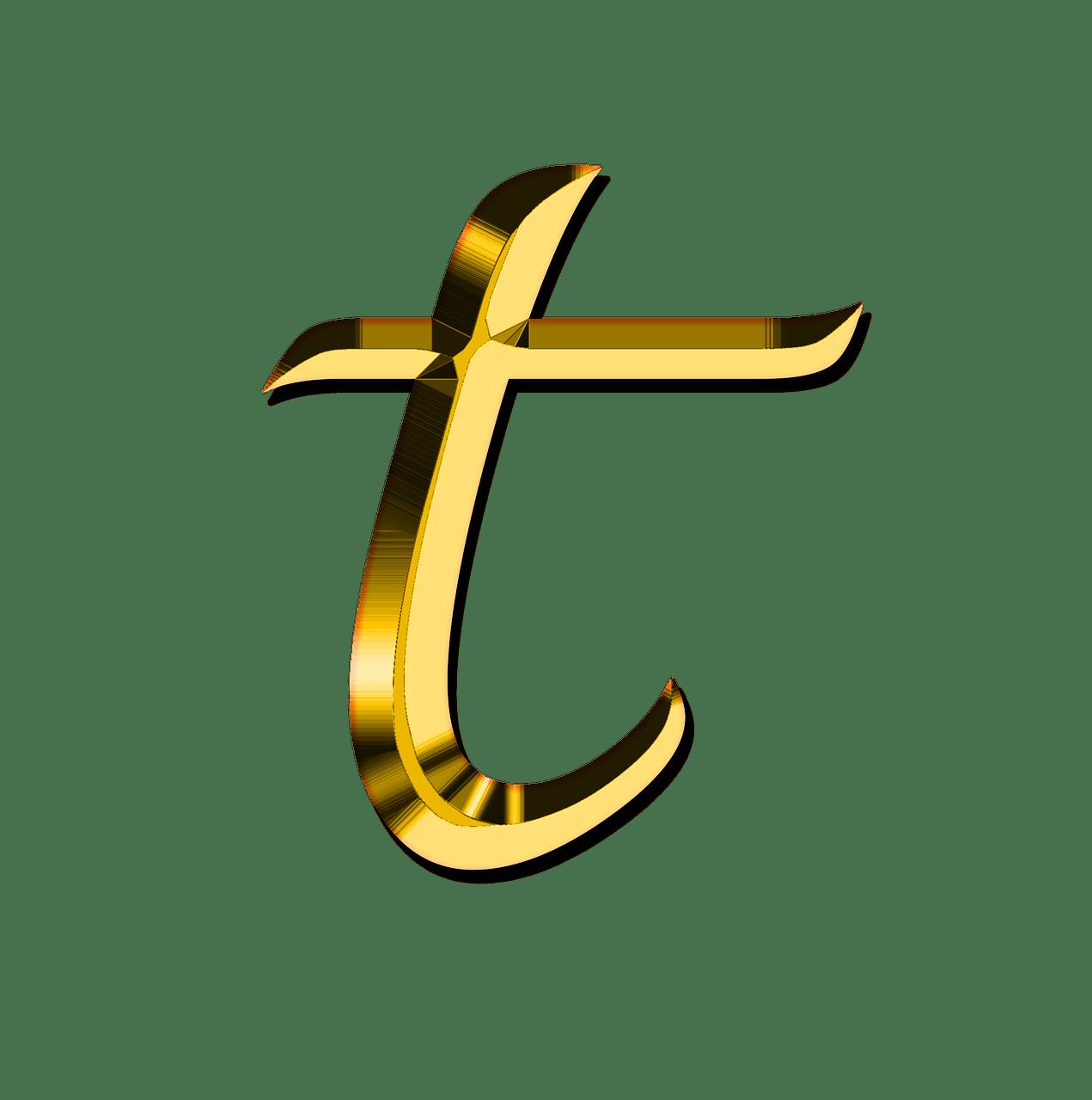 T Letter PNG Transparent Images.