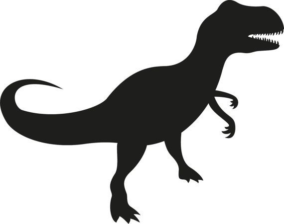 dinosaur clipart silhouette #14