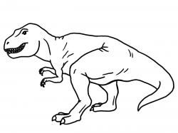 Tyrannosaurus black and white. T rex clipart outline.