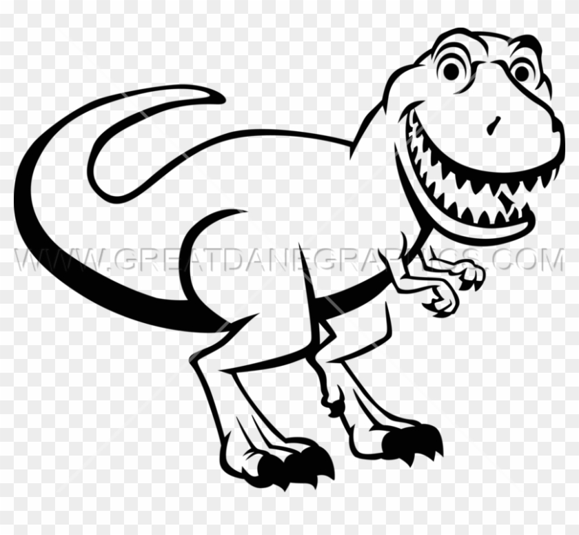 T Rex Png Black And White.