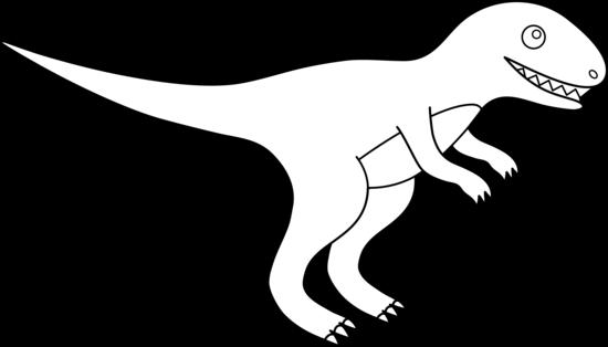 Free T Rex Clip Art Black And White, Download Free Clip Art.