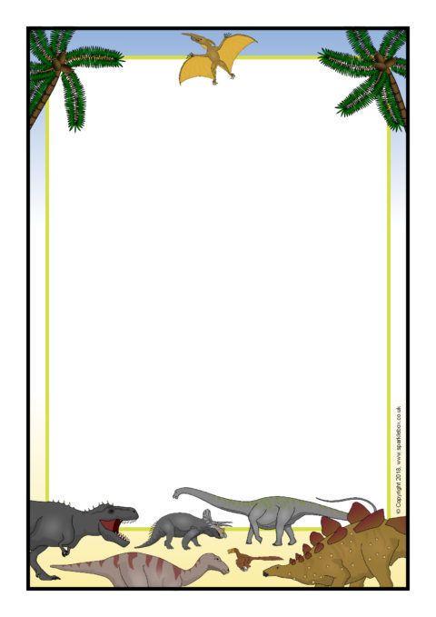 Dinosaur A4 Page Borders (SB12417).