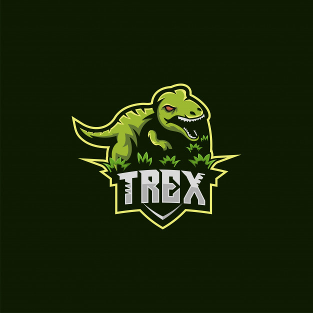T rex logo illustration Vector.