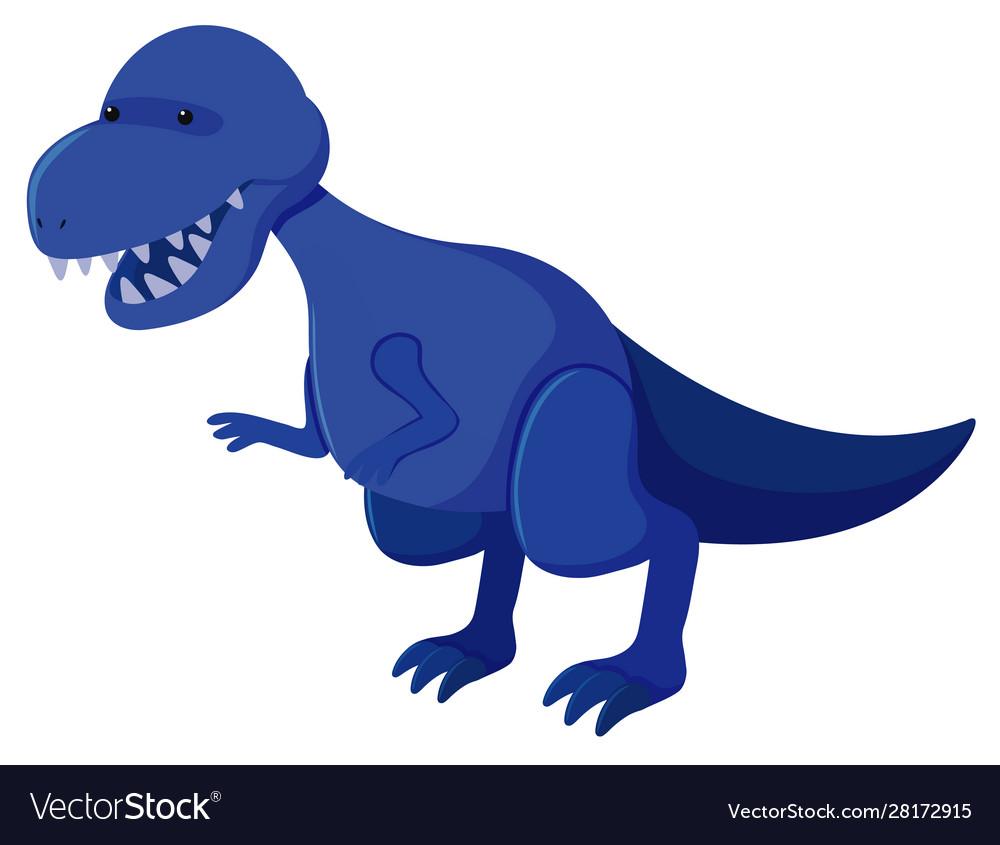 Single picture blue tyrannosaurus rex.