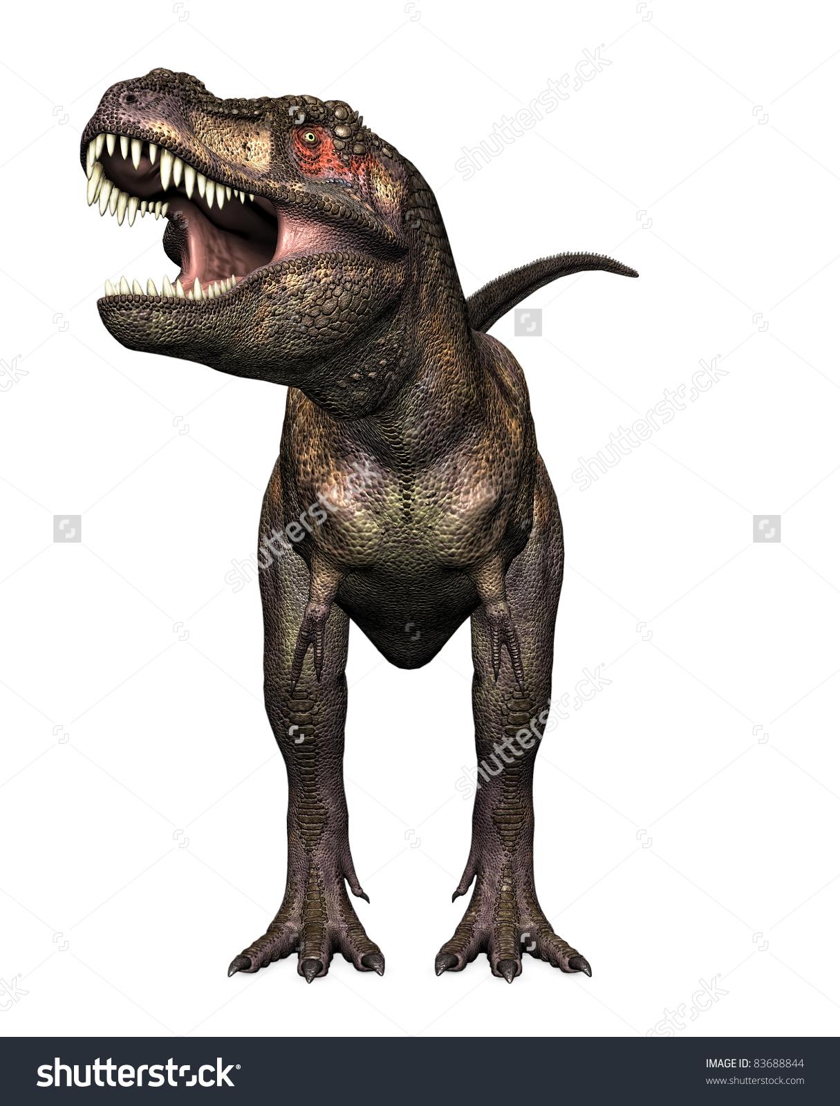 Tyrannosaurus Rex Head On View Teeth Stock Illustration 83688844.