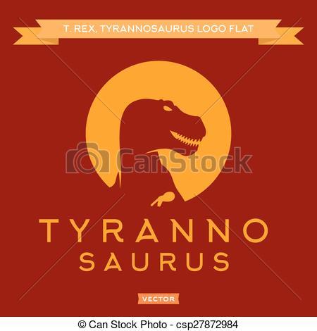 Vector of Dinosaur T.
