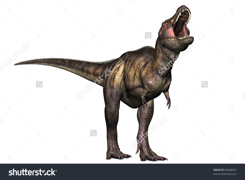 Tyrannosaurus Rex Full Body Illustration Head Stock Illustration.