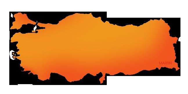 Turkey Map Clipart.