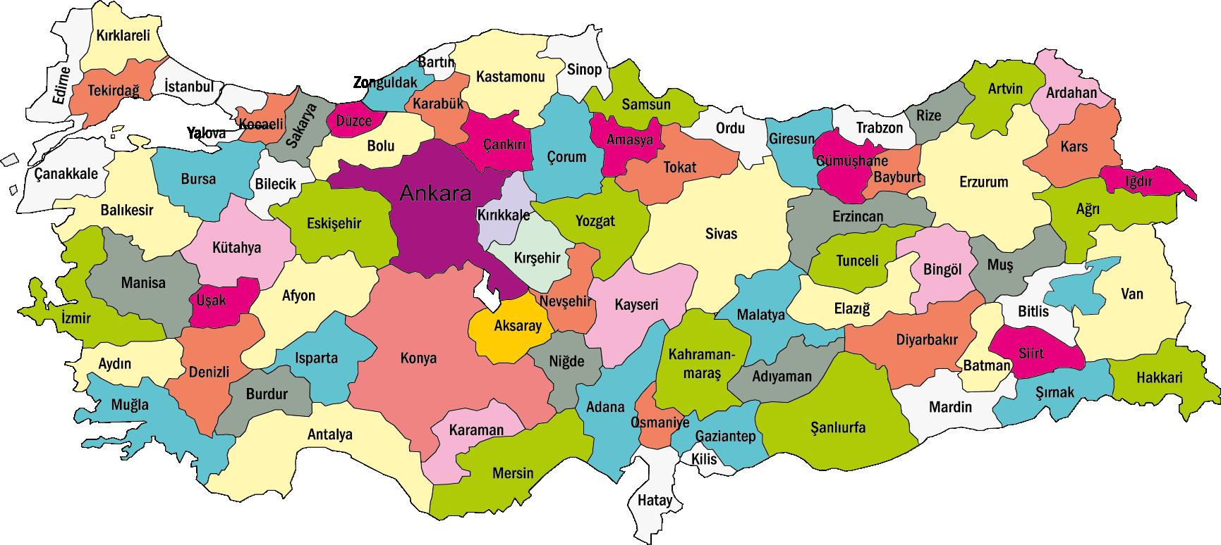 HD Turkey Map Türkiye Haritası Png.