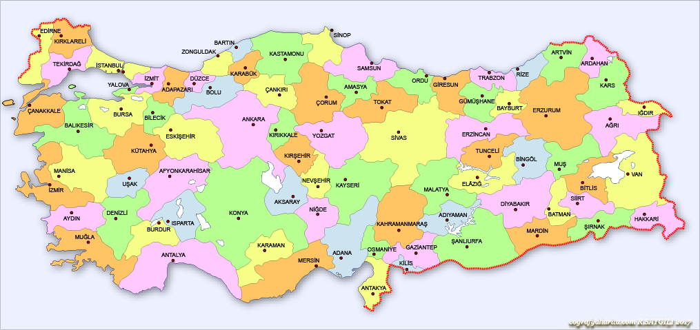 Türkiye Mülki İdare Haritaları.