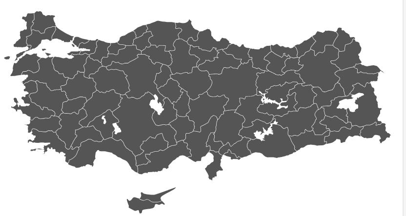 SVG Türkiye Haritası.