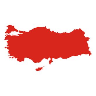 Türkiye Haritası Vektörel Logo.