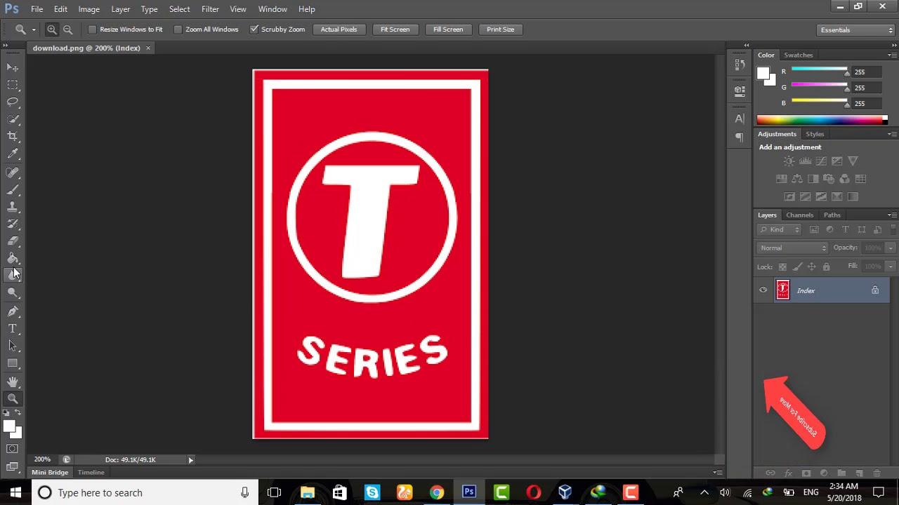 How to make a logo like T.