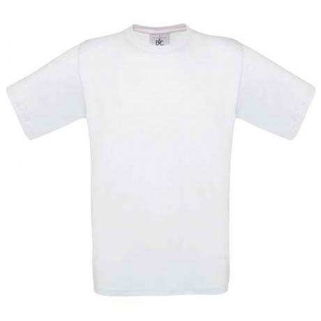 Tshirt Blanc manches courtes B&C 190 gr à broder.