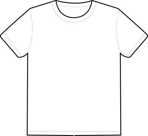 T shirt outline clipart.