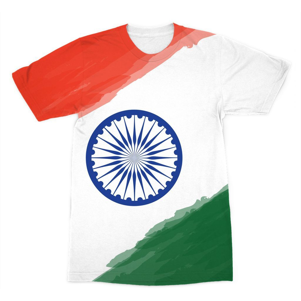 Watercolor India Flag Sublimation T.