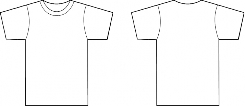 T Shirt Back Clipart.