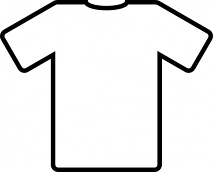 White T Shirt clip art free vector.