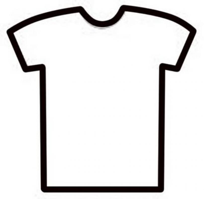 Tee Shirt Clipart Template.