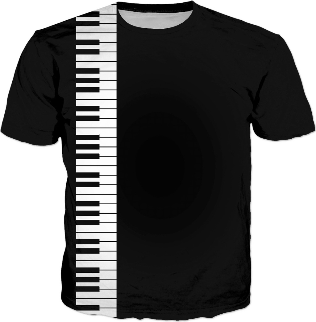 Don\'t you play with me! Music style tee shirt design, piano keyboard clipart.