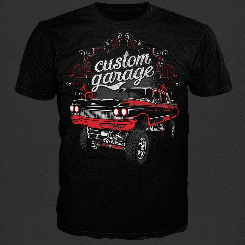 Custom garage t shirt vector file.
